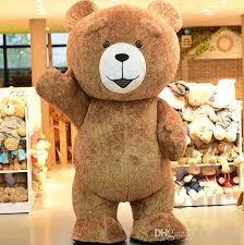 high quality big fat teddy bear cartoon mascot costume toy shop