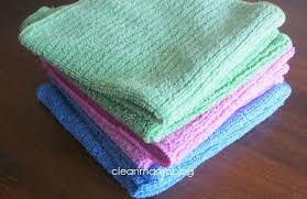 scotch green and white stripe dish towel kitchen towels how to use microfiber clean mama