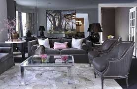 Modern Interior Decorating Ideas Blending Gray And Pink Colors - Gray color living room
