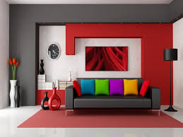 gray walls red rug creative rugs decoration