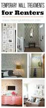 temporary wall treatments for renters and for the rest of us http
