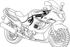 free printable motorcycle coloring pages for kids inside