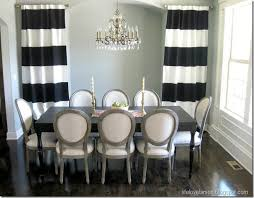 Black And White Stripe Curtains Larson Diy No Sew Black White Striped Curtains