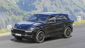 Porsche Macan Navy Blue - 2018 porsche cayenne spied testing at the u0027ring and in the alps