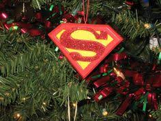 quilted ornament superman handmade fabric ornament 15 00