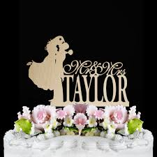 rustic wedding cake topper bride and groom silhouette cake topper