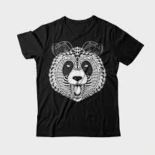 panda ornament graphic design tshirt factory