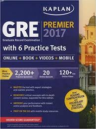gre premier 2017 6 practice tests book videos