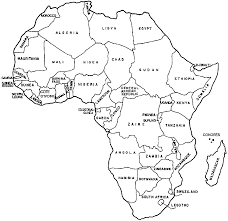 Africa Map With Countries by Www Educump Com Coloring For Kids