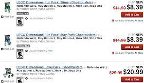 lego dimensions black friday 2016 on amazon deal ghostbusters lego dimensions packs are 30 off at gamestop