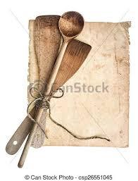 vieux livre de cuisine vieux bois vendange ustensiles livre cuisine page photo de