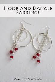 make dangle earrings hoop and dangle earrings 30 minute crafts