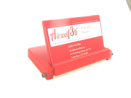 Commercial Business Card Printer Business Card Holder In Red Abs Airwolf 3d