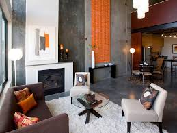 Orange Curtains For Living Room Living Room Design Style Hgtv