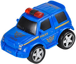 police car toy rev up and go friction 4