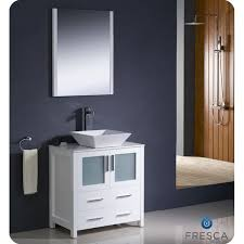30 Inch Single Sink Bathroom Vanity Fresca Torino 30 Inch White Modern Bathroom Vanity With Vessel