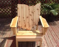 michigan adirondack chair handmade wood furniture rustic patio