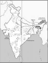Blank Map Of Delhi by On The Outline Map Of India Provided A Draw Name And Number
