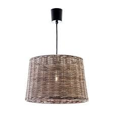 cane wicker hampton coastal pendant light u2013 lighting collective