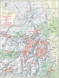 Colorado County Map by San Juan County Colorado Geological Survey