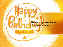happy birthday card powerpoint template backgrounds 07278