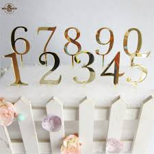 cake topper numbers 10pcs numbers gold cake toppers personalized wedding and birthday