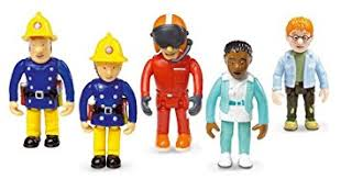 amazon fireman sam 5 articulated figures toys u0026 games