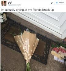 Break Letter Girlfriend guy leaves the most brutal and awkward break up note with flowers