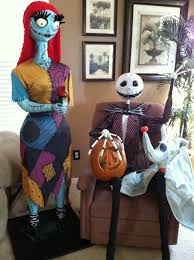 our handmade jack skellington sally zero halloween display we