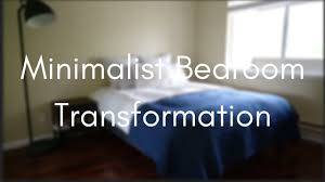 minimalist bedroom transformation youtube