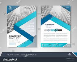 front back page brochure template flyer stock vector 461391778