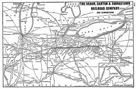 of akron map the akron canton and youngstown railroad