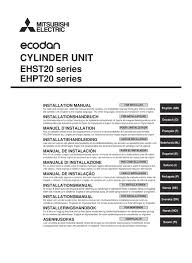 mitsubishi electric ecodan ehpt20x vm2hb installation manual mitsubishi electric