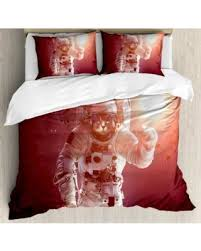 holiday shopping special space cat king size duvet cover set pet
