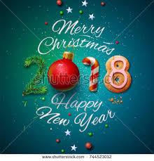 merry happy new year 2018 stock vector 744523012