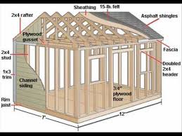 Diy 10x12 Storage Shed Plans by 121 Best Wood Shed Plans Images On Pinterest Sheds Garden Sheds