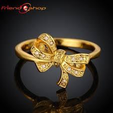 finger ring design 2017 kr040 a bow design 18k gold plated finger ring with
