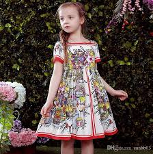 new years dresses for kids 2018 new europe fashion floral dress sleeve cotton