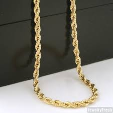 stainless steel rope necklace images 4mm 36 inch gold ip stainless steel rope necklace jewelryfresh jpg