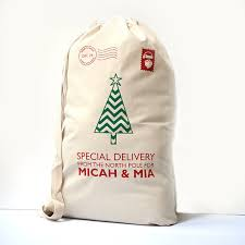 personalized christmas for kids personalized santa sack for kids on christmas day personalized