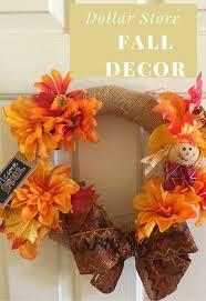 Homemade Fall Decor - 20 minute dollar store decor