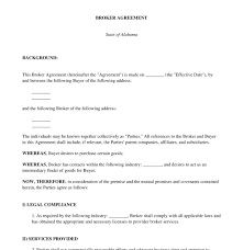broker agreement free sample template word and pdf