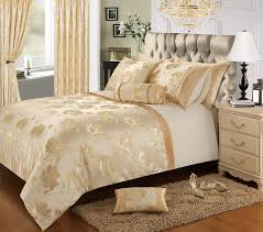 home bedding store premium single bed luxury jacquard gold cream