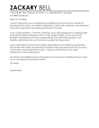 presentation letter best construction cover letter exles livecareer