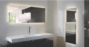 Led Backlit Bathroom Mirror Fancy Chrome Ove Decors Bathroom Mirrors For W Single Wall Led