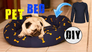 trahu diy how to make pet bed with long sleeve tee no sew