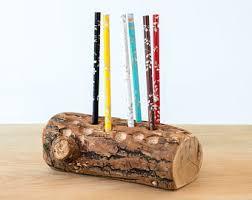 Desk Pencil Holder Wooden Pen Holder Etsy