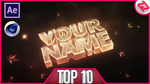 top 10 intro templates 2017 cinema 4d u0026 after effects 75 free
