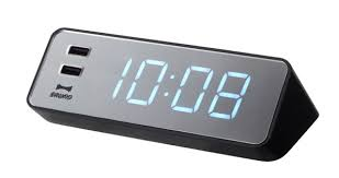 an all in one digital clock and iphone charger co design
