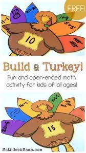 free build a turkey pattern block math center great for teaching